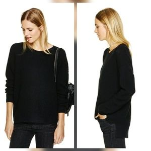 Aritzia Wilfred Free Isabelli M Black Sweater
